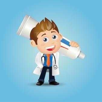 Люди устанавливают профессию стоматолога