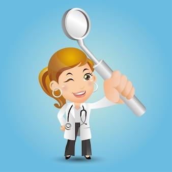 Люди устанавливают профессию стоматологов