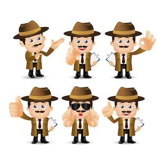 Набор людей - профессия - детектив