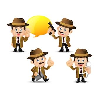 人々のセット-職業-探偵