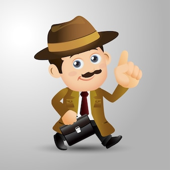 人々は職業探偵を設定します