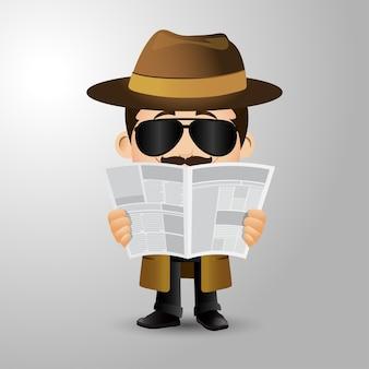 Люди устанавливают профессию детектив