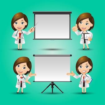 Набор людей профессии доктор набор
