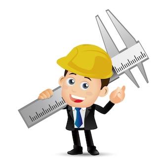 Люди устанавливают профессию инженера