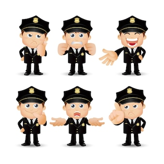 Люди устанавливают профессию полицейского