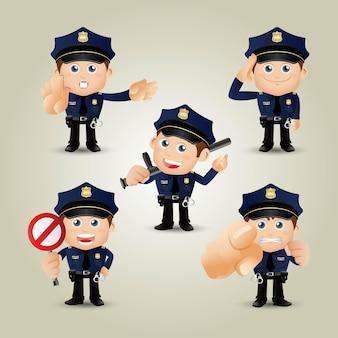 사람들은 직업 경찰관을 설정