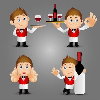 People set  profession  waiter