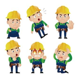 Набор людей - профессия - рабочий. строитель