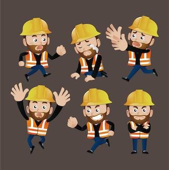 사람들은-직업-노동자를 설정합니다. 건축업자