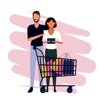 人々のショッピングマンガ