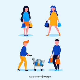 People shopping collection