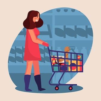 Люди покупают продукты