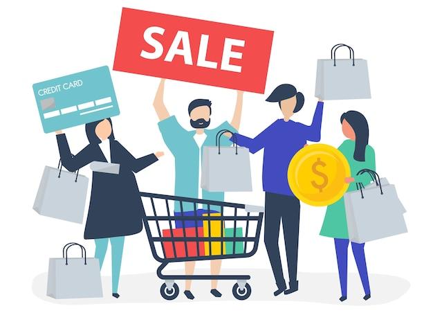 Люди, покупающие с помощью кредитной карты