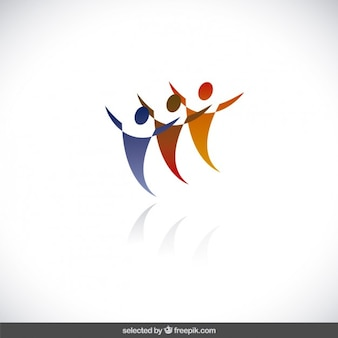 People silhouette charity logo