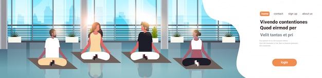 People sitting lotus position