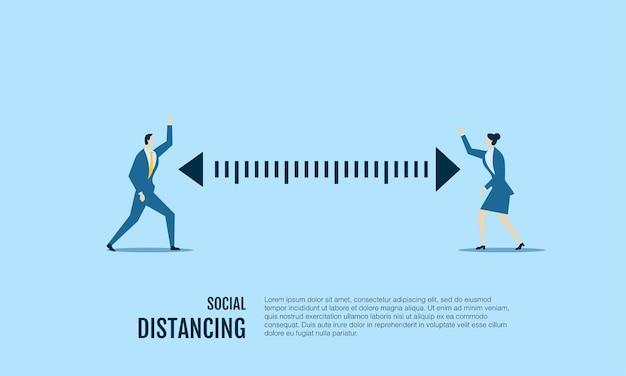 社会的距離を置いている人々はコロナウイルスを避けます