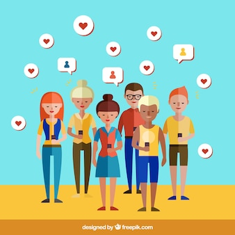 Le persone in social networking
