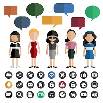 People and speech bubbles