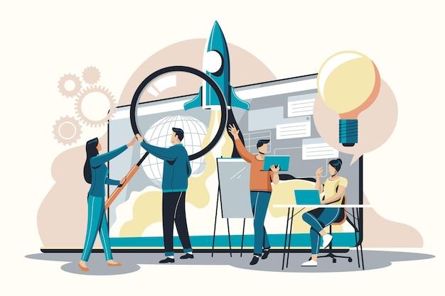 Люди, начинающие бизнес-проект