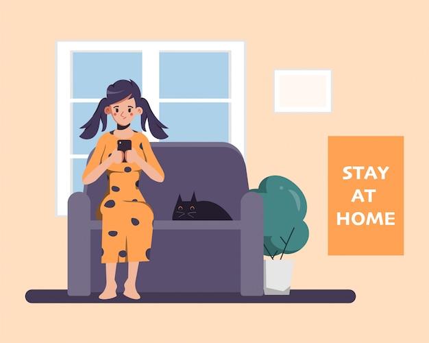 Люди остаются дома, чтобы избежать распространения коронавирусной инфекции.
