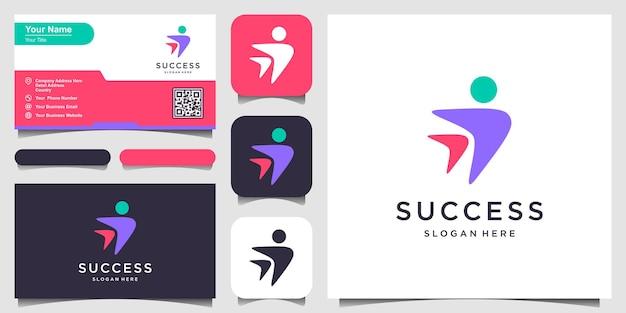 People success business logo design.