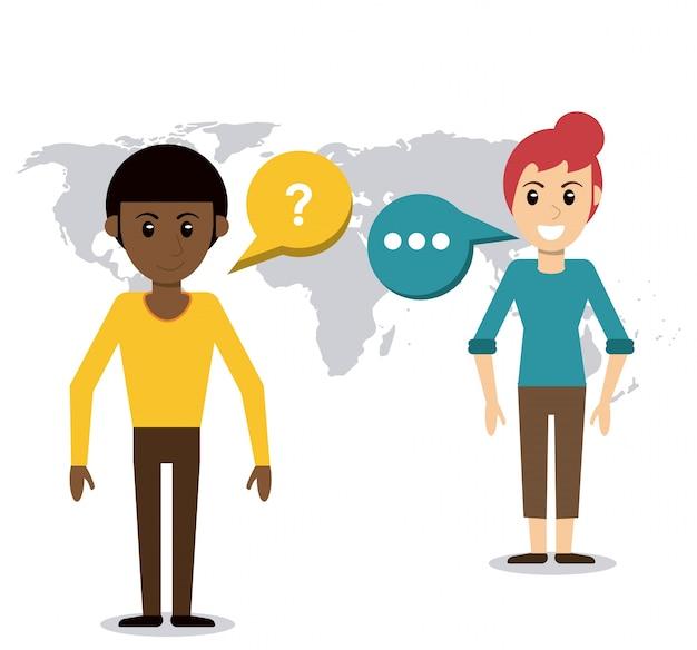 People talking dialog world