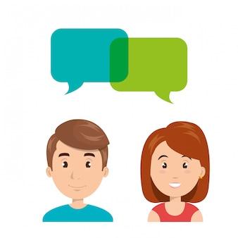 People talking speech communication