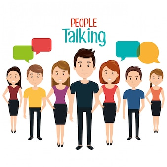 People talking speech communication