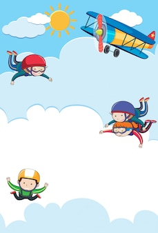People Tandem and Free Skydiving