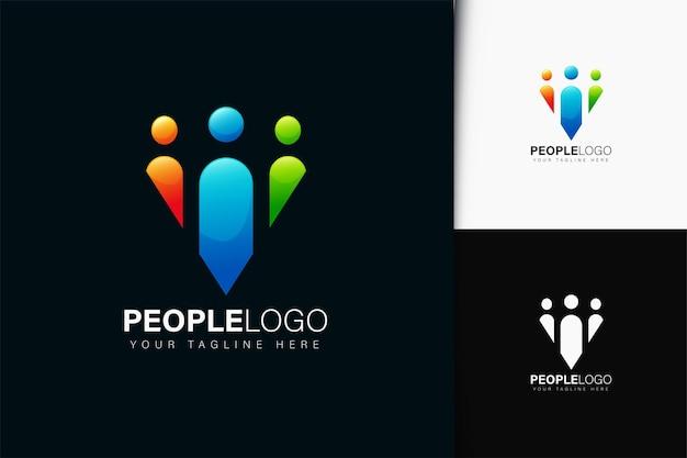 사람들이 팀 로고 디자인