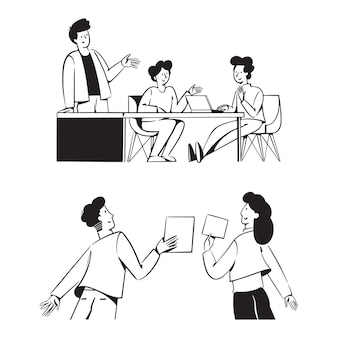 People teamwork activities for startup business concept