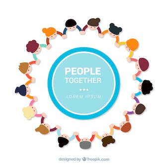 People together background