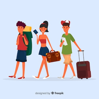 People traveling collection
