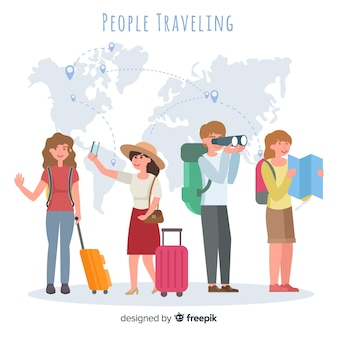 People travelling collection