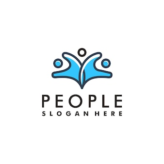 People and unity logo symbol icon concept
