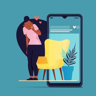 スマートフォンでオーメンテッドリアリティを使用している人