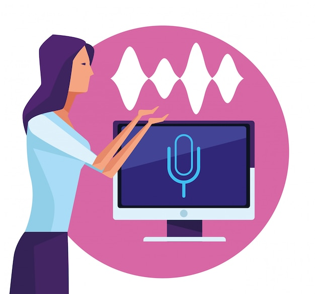 People using voice recognition