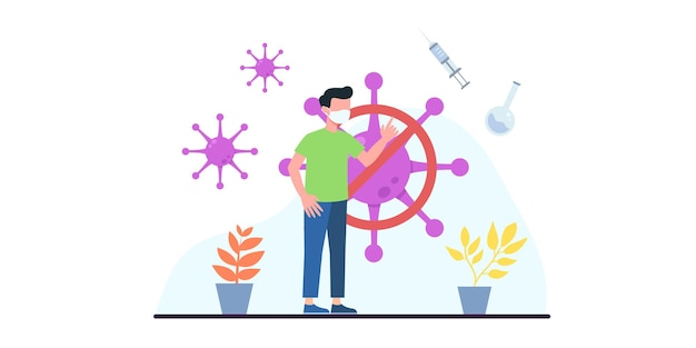 면역 건강을 위한 사람들 예방 접종 개념. 코로나 19. 의사는 병원에 있는 사람에게 독감 백신을 주사합니다. 백신 설명. 건강 관리, 코로나 바이러스, 예방 및 예방 접종