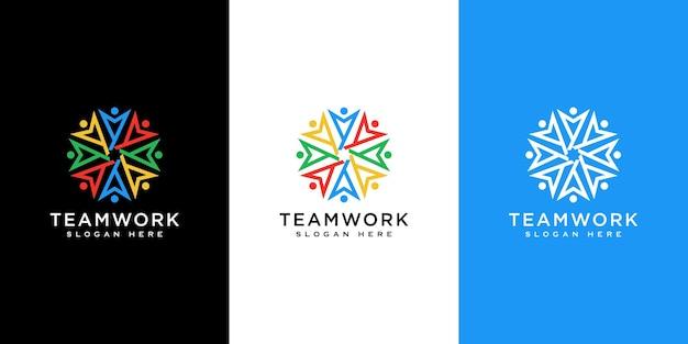 人のベクトルのデザインは、チームワーク、多様性、サインやシンボルを表しています。