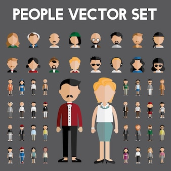 People vector set