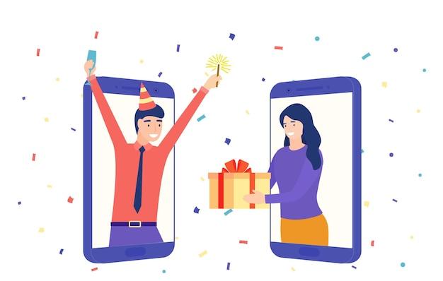 사람들의 영상 통화 및 공유