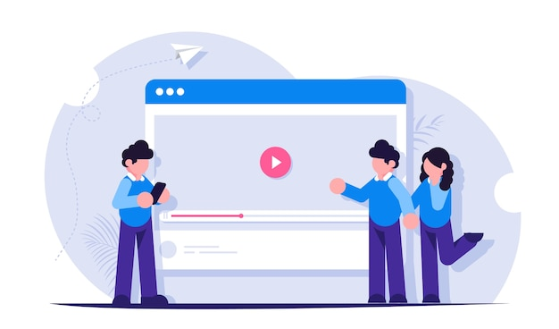 人々はインターネットやソーシャルネットワークでビデオを見たり共有したりします。ブラウザでのビデオホスティング。ライブストリーミングまたはブログ