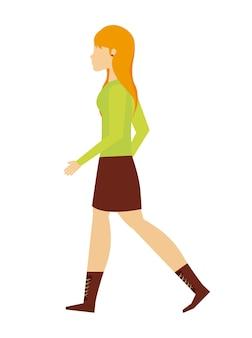 人々が歩くデザイン、ベクトルイラストeps10グラフィック Premiumベクター