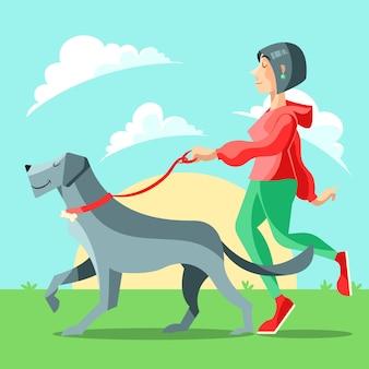 People walking the dog