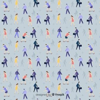 People walking pattern