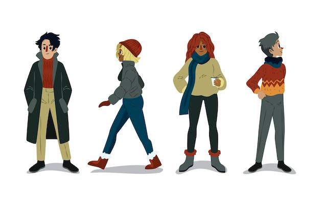 Persone che indossano abiti comodi