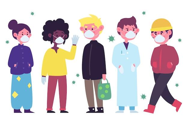 Люди в медицинской маске