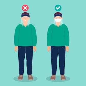 Люди, носящие защитную маску и маску