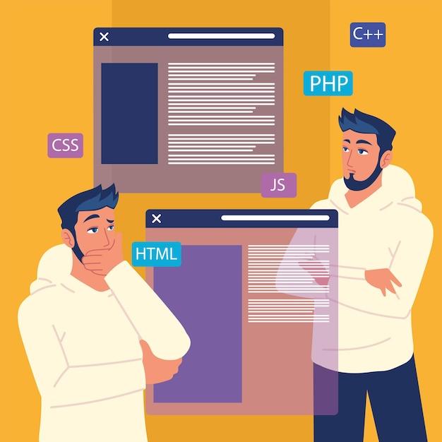 People and web development websites