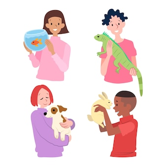 People with different pets